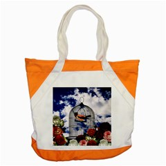 Vintage bird in the cage  Accent Tote Bag