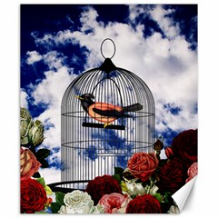 Vintage bird in the cage  Canvas 20  x 24