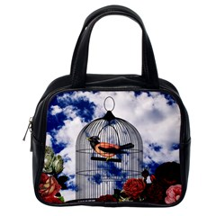 Vintage bird in the cage  Classic Handbags (One Side)