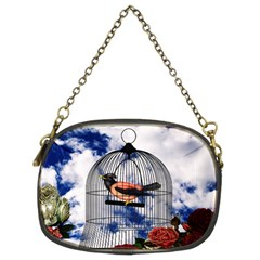 Vintage bird in the cage  Chain Purses (Two Sides)