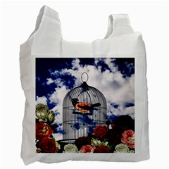 Vintage bird in the cage  Recycle Bag (Two Side)