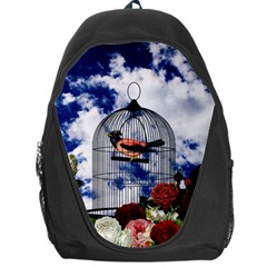Vintage bird in the cage  Backpack Bag