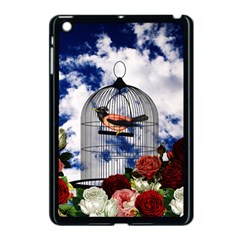 Vintage bird in the cage  Apple iPad Mini Case (Black)