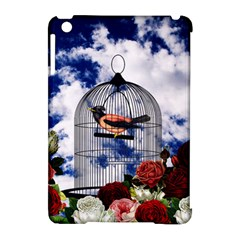 Vintage bird in the cage  Apple iPad Mini Hardshell Case (Compatible with Smart Cover)