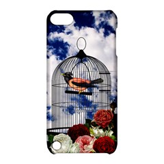 Vintage bird in the cage  Apple iPod Touch 5 Hardshell Case with Stand