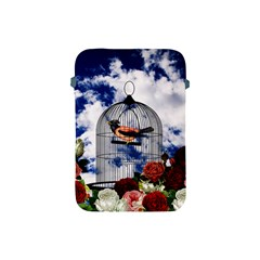 Vintage bird in the cage  Apple iPad Mini Protective Soft Cases