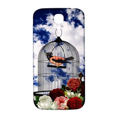 Vintage bird in the cage  Samsung Galaxy S4 I9500/I9505  Hardshell Back Case