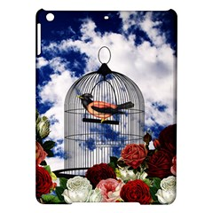 Vintage bird in the cage  iPad Air Hardshell Cases