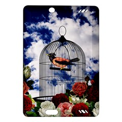 Vintage bird in the cage  Amazon Kindle Fire HD (2013) Hardshell Case