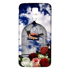 Vintage bird in the cage  Samsung Galaxy S5 Back Case (White)