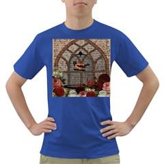 Vintage bird in the cage Dark T-Shirt
