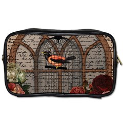 Vintage bird in the cage Toiletries Bags