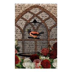 Vintage bird in the cage Shower Curtain 48  x 72  (Small)