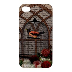 Vintage bird in the cage Apple iPhone 4/4S Hardshell Case