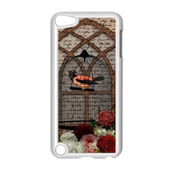 Vintage bird in the cage Apple iPod Touch 5 Case (White)