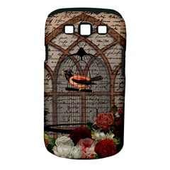 Vintage bird in the cage Samsung Galaxy S III Classic Hardshell Case (PC+Silicone)
