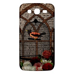 Vintage bird in the cage Samsung Galaxy Mega 5.8 I9152 Hardshell Case