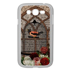 Vintage bird in the cage Samsung Galaxy Grand DUOS I9082 Case (White)