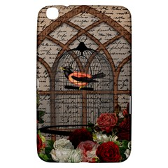 Vintage bird in the cage Samsung Galaxy Tab 3 (8 ) T3100 Hardshell Case