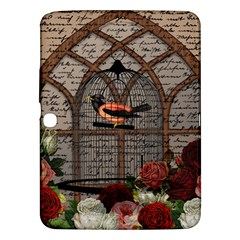 Vintage bird in the cage Samsung Galaxy Tab 3 (10.1 ) P5200 Hardshell Case
