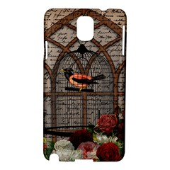 Vintage bird in the cage Samsung Galaxy Note 3 N9005 Hardshell Case