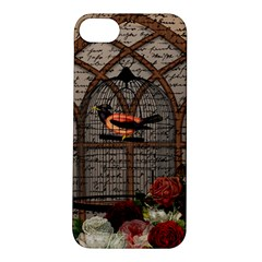 Vintage bird in the cage Apple iPhone 5S/ SE Hardshell Case