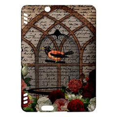 Vintage bird in the cage Kindle Fire HDX Hardshell Case