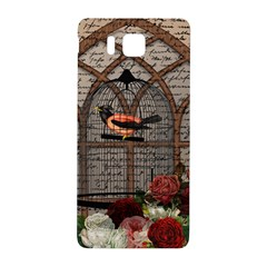 Vintage bird in the cage Samsung Galaxy Alpha Hardshell Back Case