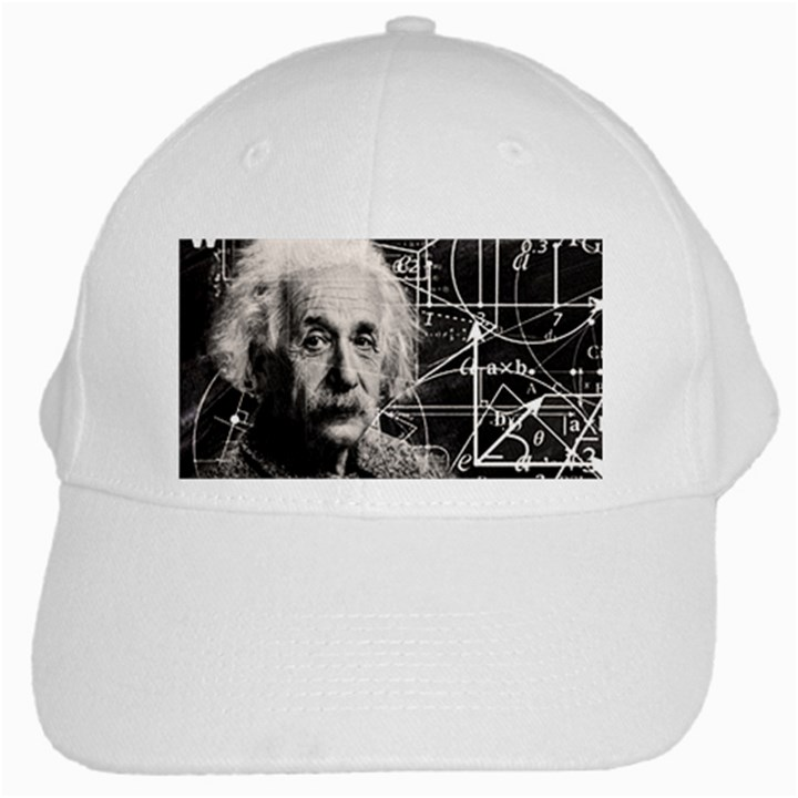 Albert Einstein White Cap