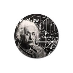 Albert Einstein Magnet 3  (Round)