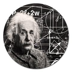 Albert Einstein Magnet 5  (Round)
