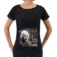 Albert Einstein Women s Loose-Fit T-Shirt (Black)