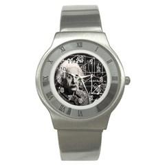 Albert Einstein Stainless Steel Watch