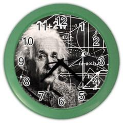 Albert Einstein Color Wall Clocks