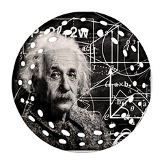 Albert Einstein Ornament (Round Filigree)