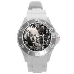 Albert Einstein Round Plastic Sport Watch (L)
