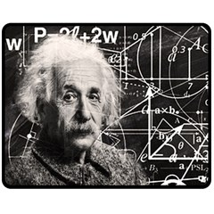 Albert Einstein Double Sided Fleece Blanket (Medium)