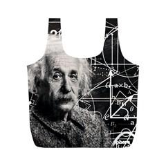Albert Einstein Full Print Recycle Bags (M)
