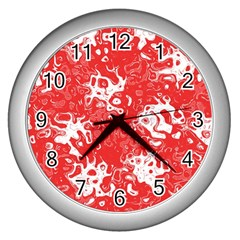 Pattern Wall Clocks (Silver)