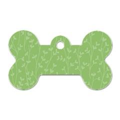 Pattern Dog Tag Bone (One Side)