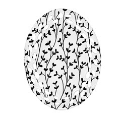 Pattern Oval Filigree Ornament (Two Sides)