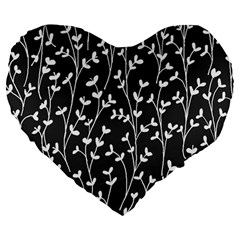 Pattern Large 19  Premium Heart Shape Cushions