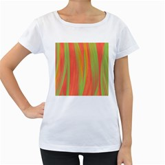 Pattern Women s Loose-Fit T-Shirt (White)