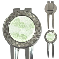 Floral pattern 3-in-1 Golf Divots