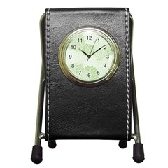 Floral pattern Pen Holder Desk Clocks