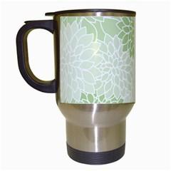 Floral pattern Travel Mugs (White)