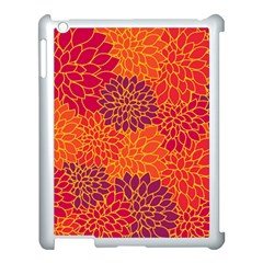 Floral pattern Apple iPad 3/4 Case (White)