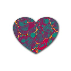 Pattern Rubber Coaster (Heart)