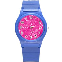 Pattern Round Plastic Sport Watch (S)