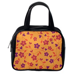 Floral pattern Classic Handbags (One Side)